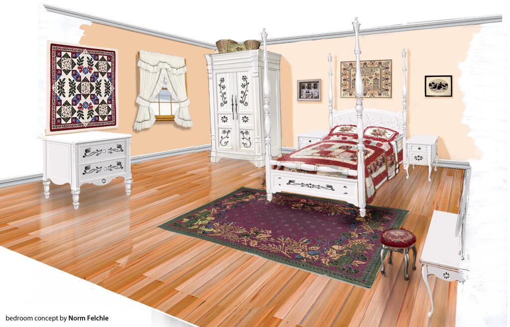 Country Slaapkamer : Bedroom Concept Art
