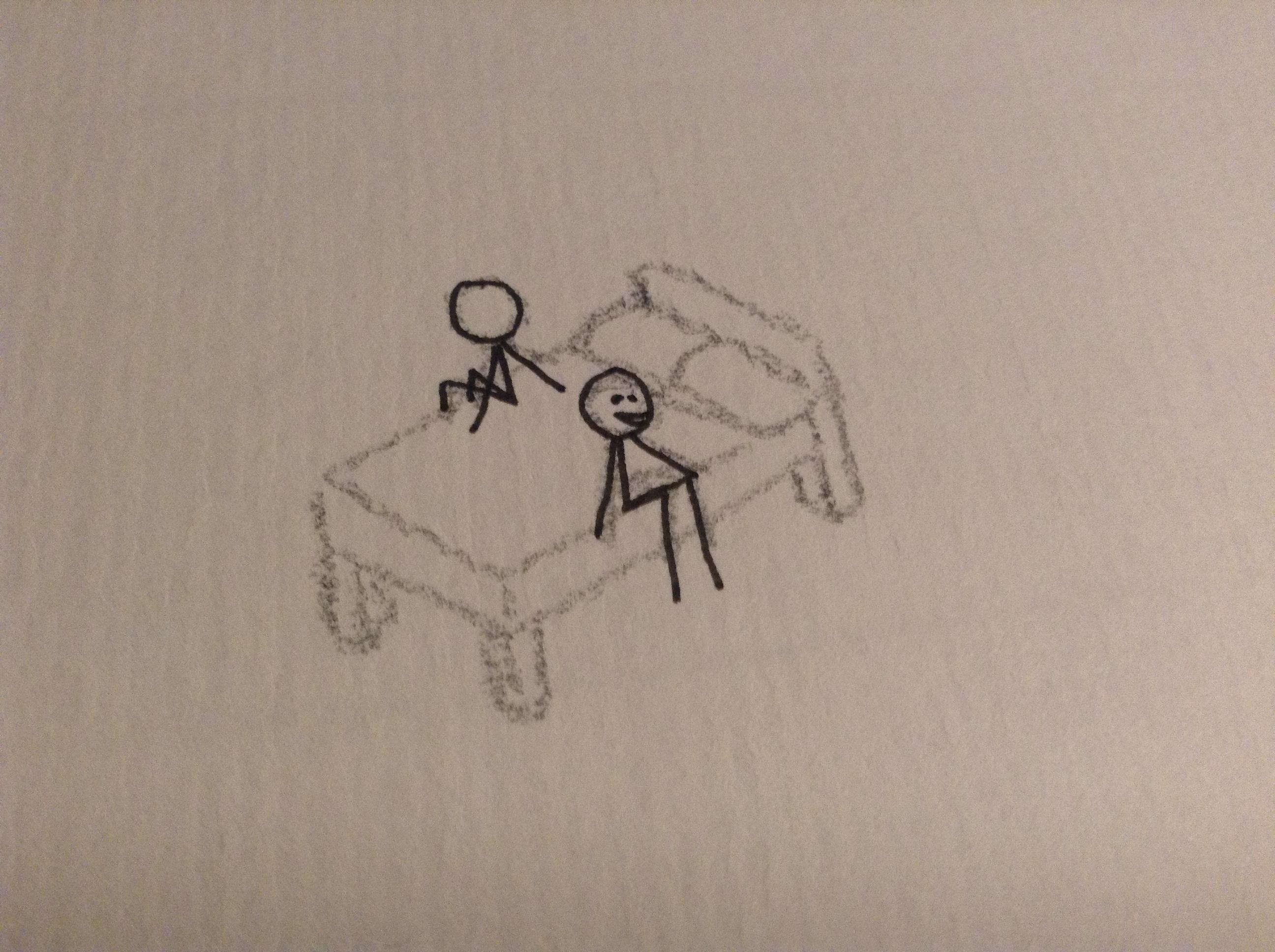 En als laatste ook terwijl ze allebei op een bed zaten met de ruggen