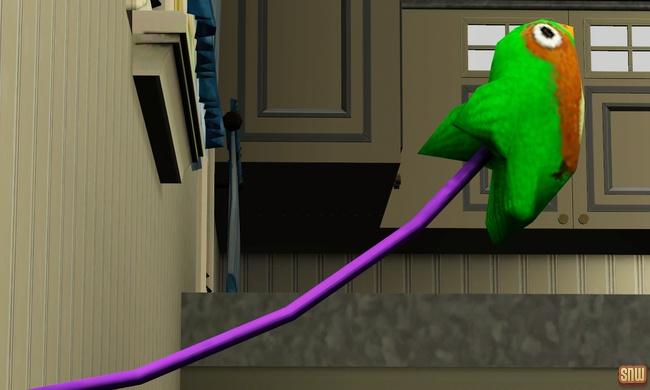 De Sims 3 Beestenbende: Wanhopig speelgoedvogeltje
