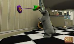 De Sims 3 Beestenbende: Oopsie-Daisy de kat aan het spelen met een speelgoedvogeltje