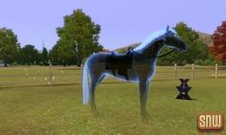 De Sims 3 Beestenbende: Estela Marshall het spookpaard