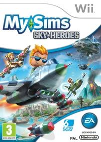 MySims SkyHeroes Wii box art packshot