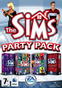 The Sims: Party Pack for Mac box art packshot