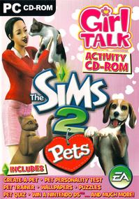 The Sims 2 Pets Girl Talk Activity CD-Rom box art packshot
