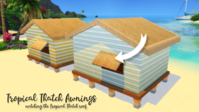 Tropical Thatch Awnings - matches Tropical Thatch roof from Island Living