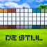 De Stijl MCM Wall Panels Blocks (Top and Bottom) #10