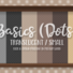 Basics Small Translucent Dots Wallpaper with Kick and Crown Molding in Medium Wood