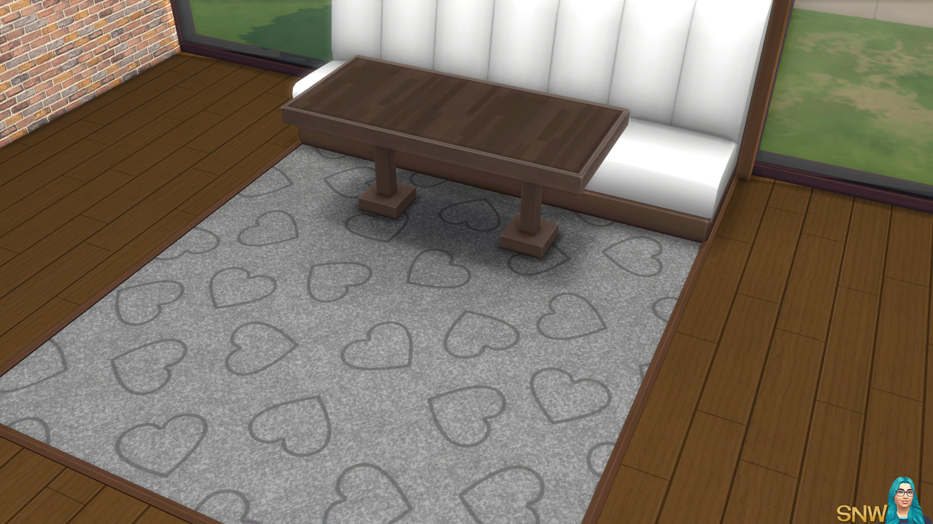 Valentine's Day 2018 / Love Carpets #5 (Hearts - Outline - Large - Dark)