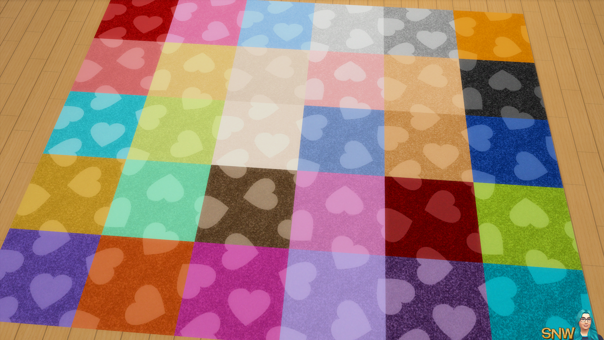Valentine's Day 2018 / Love Carpets #2 (Hearts - Full - Large - Light)