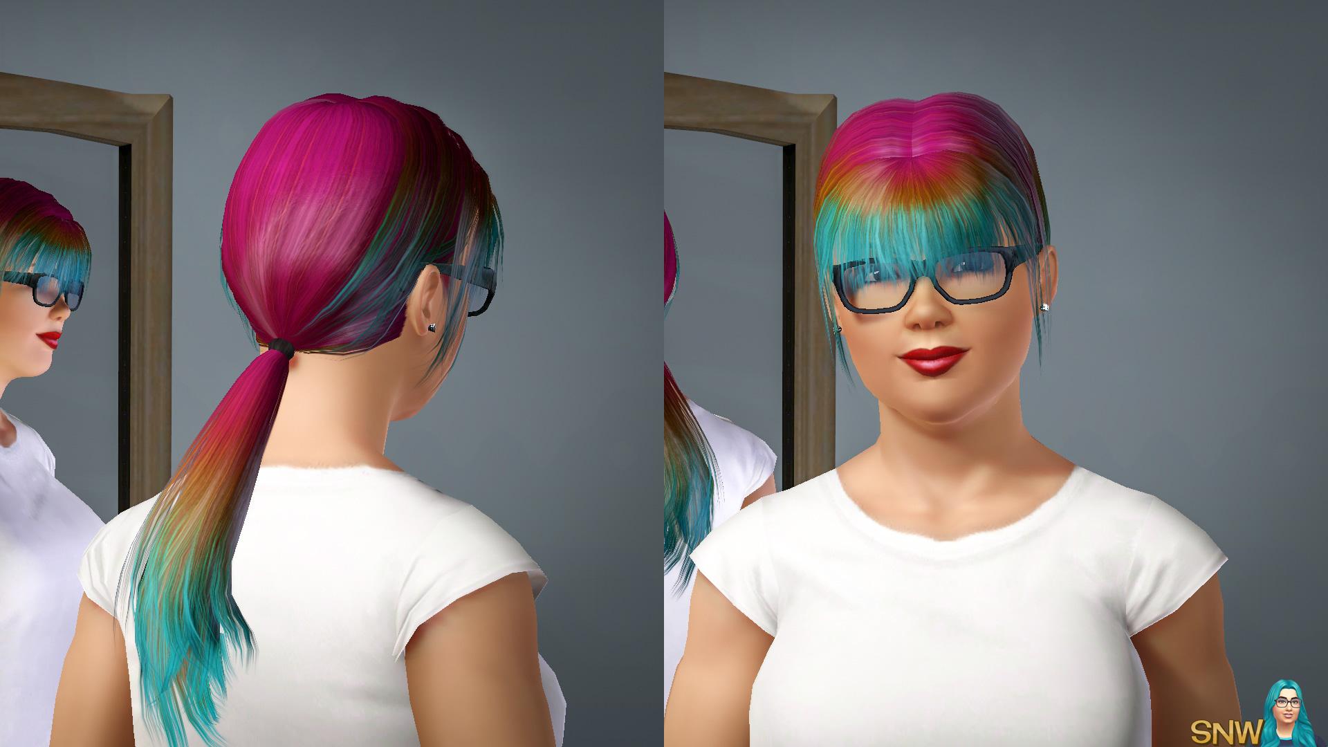 Hair Colour Hotpink-Brown-Aqua
