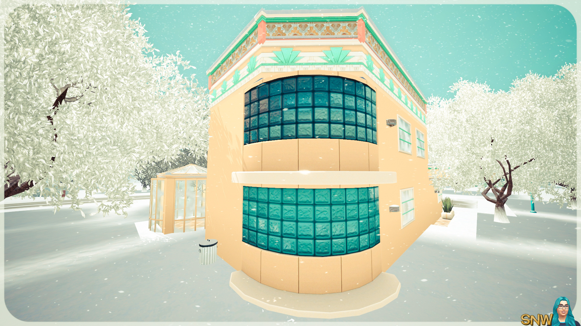 Zonnig art deco huis snw - Deco buitenkant huis ...