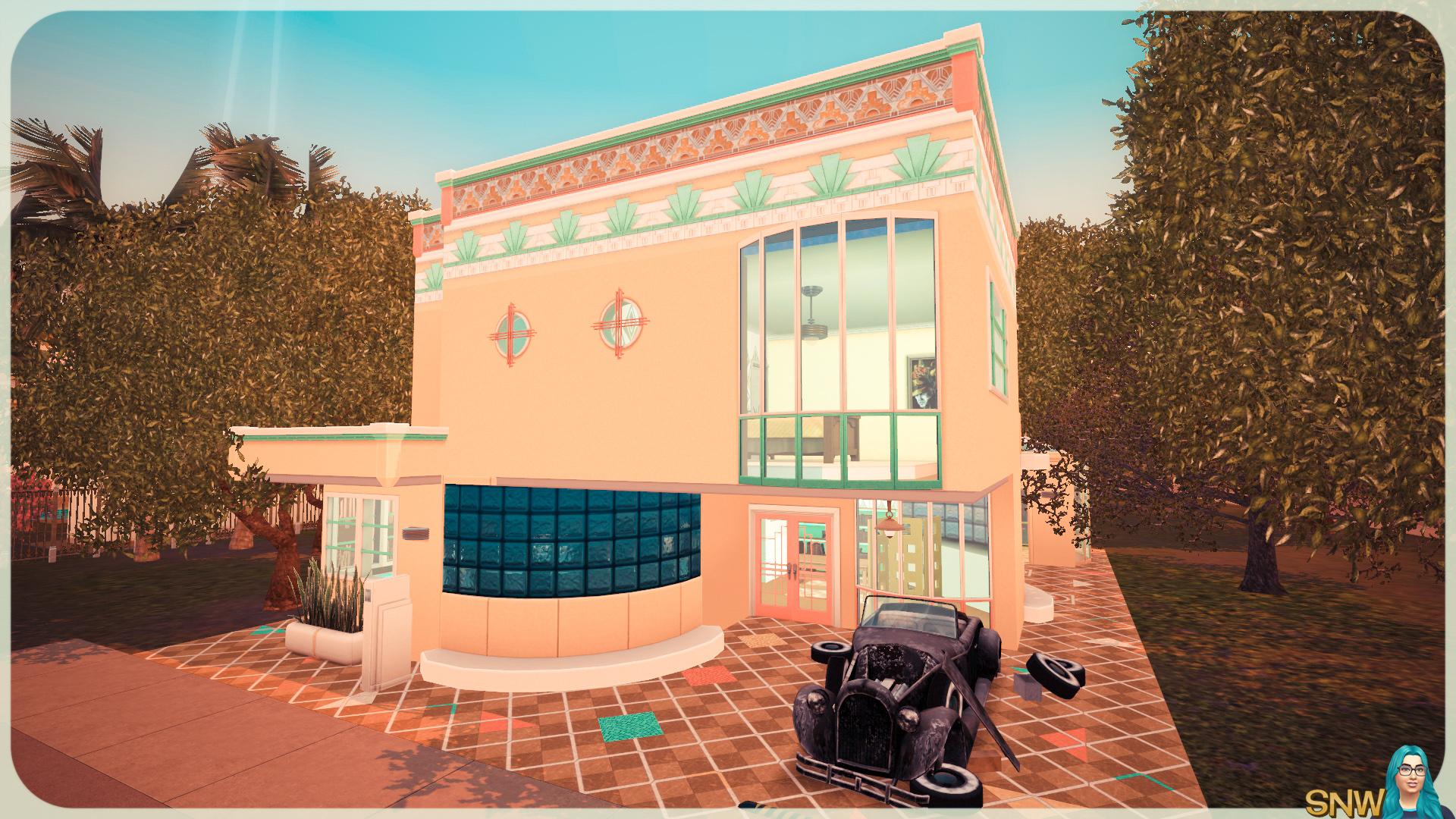 Zonnig art deco huis snw - Deco eigentijds design huis ...