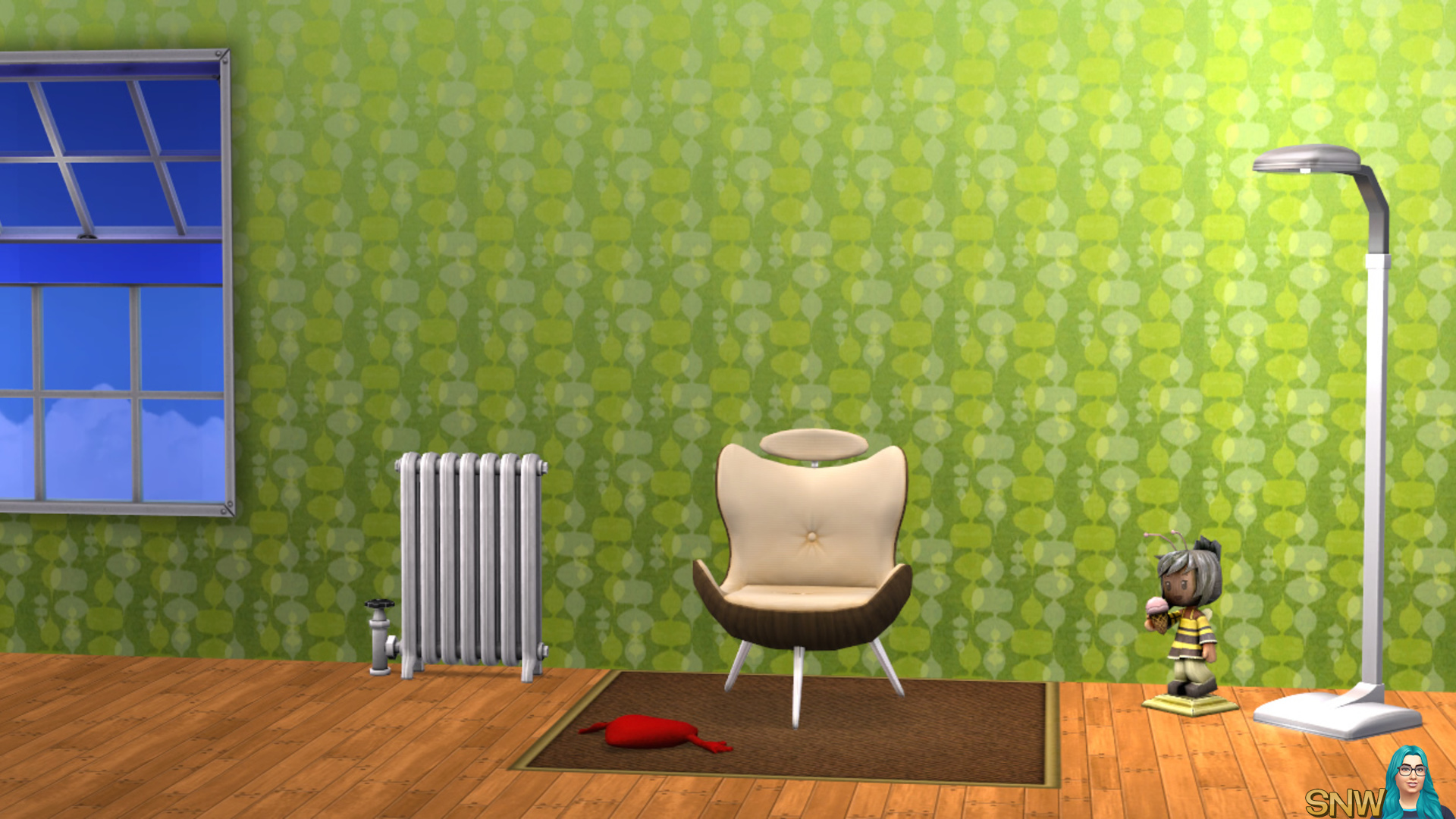 Mod behang groen & geel
