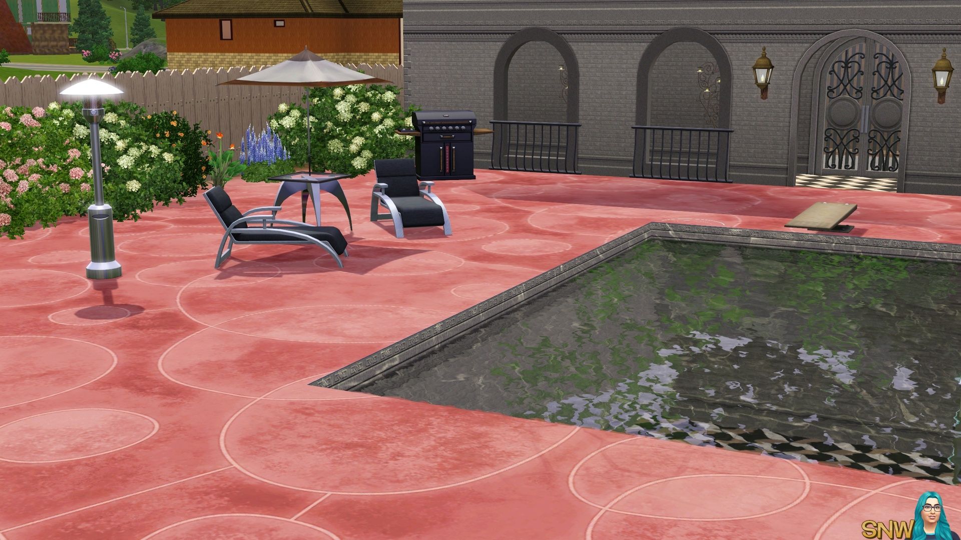Lava Stained Concrete Flooring in pink
