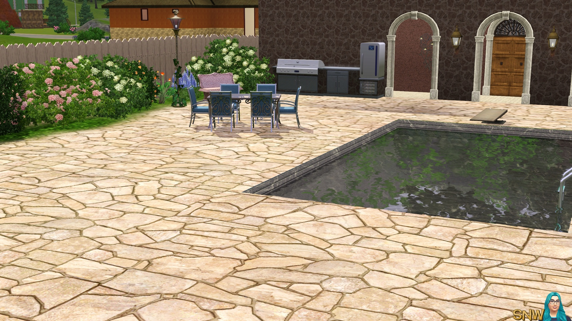Riverbed Stone Pavers Snw Simsnetwerk Com