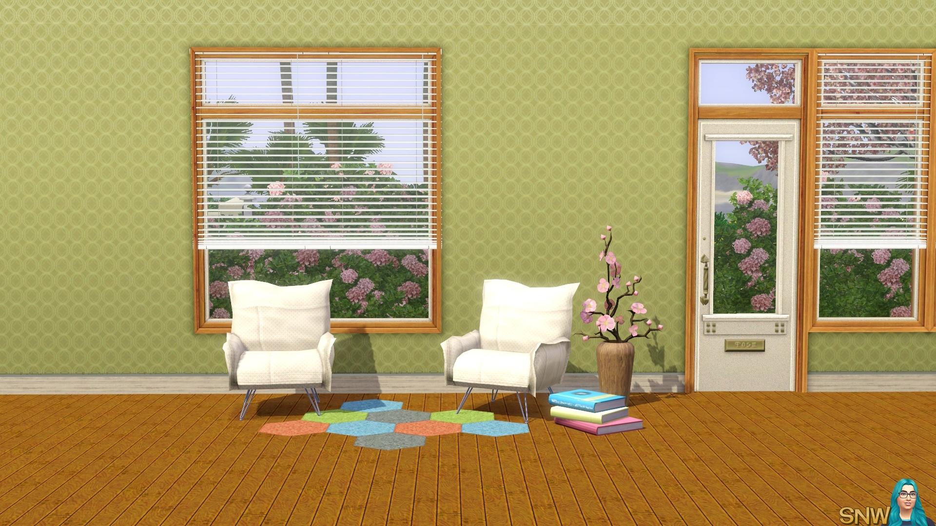 Spring Fling Retro green wallpaper