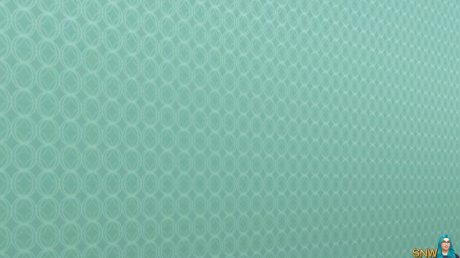 Spring Fling Retro blue wallpaper