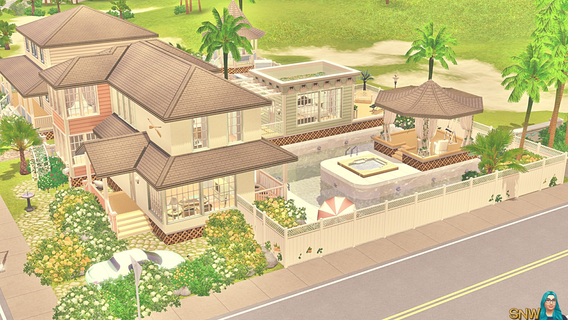 Minty & Peach Beach House