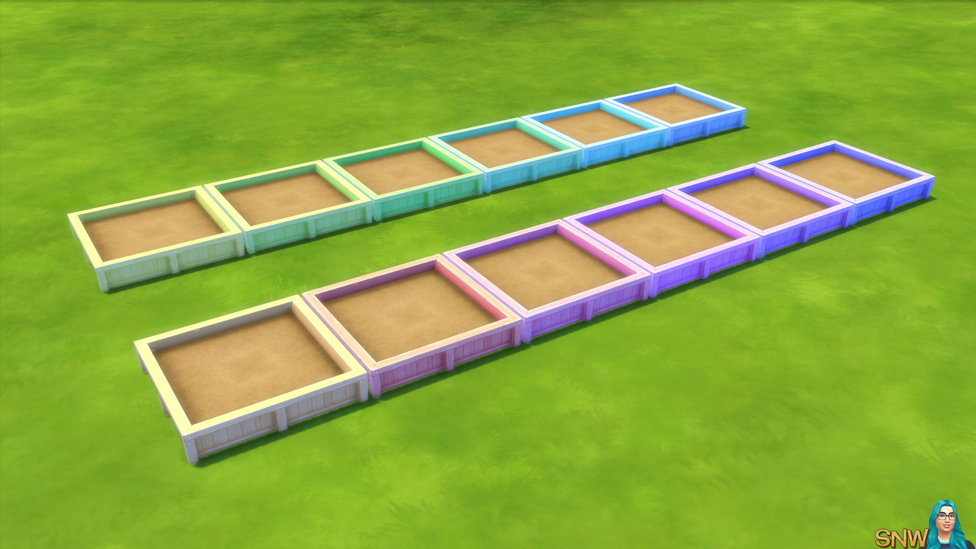 Pastel/Berry Garden Planter Boxes