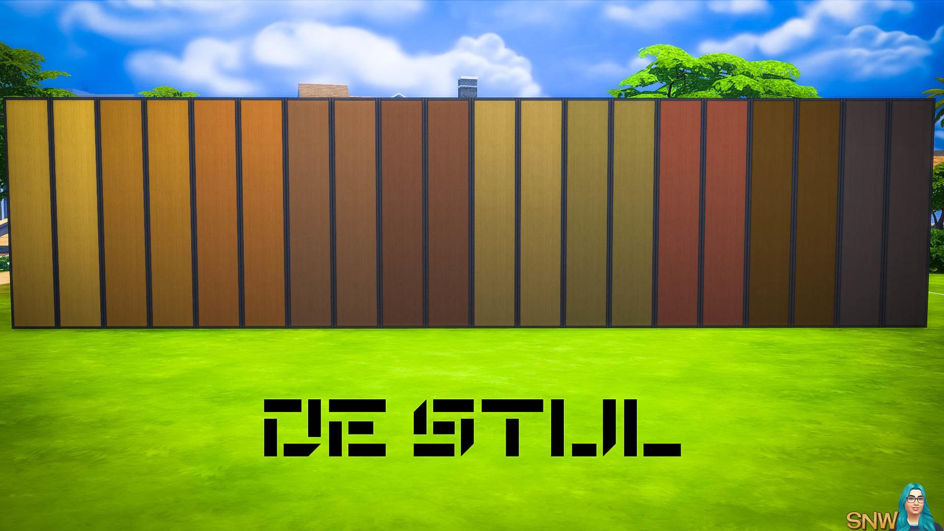 De Stijl Wooden Wall Panels (Full) #1