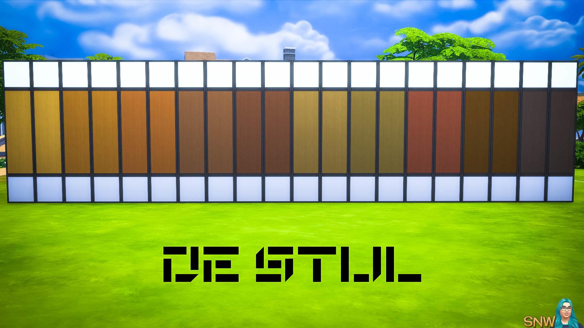 De Stijl Wooden Wall Panels (Middle) #5