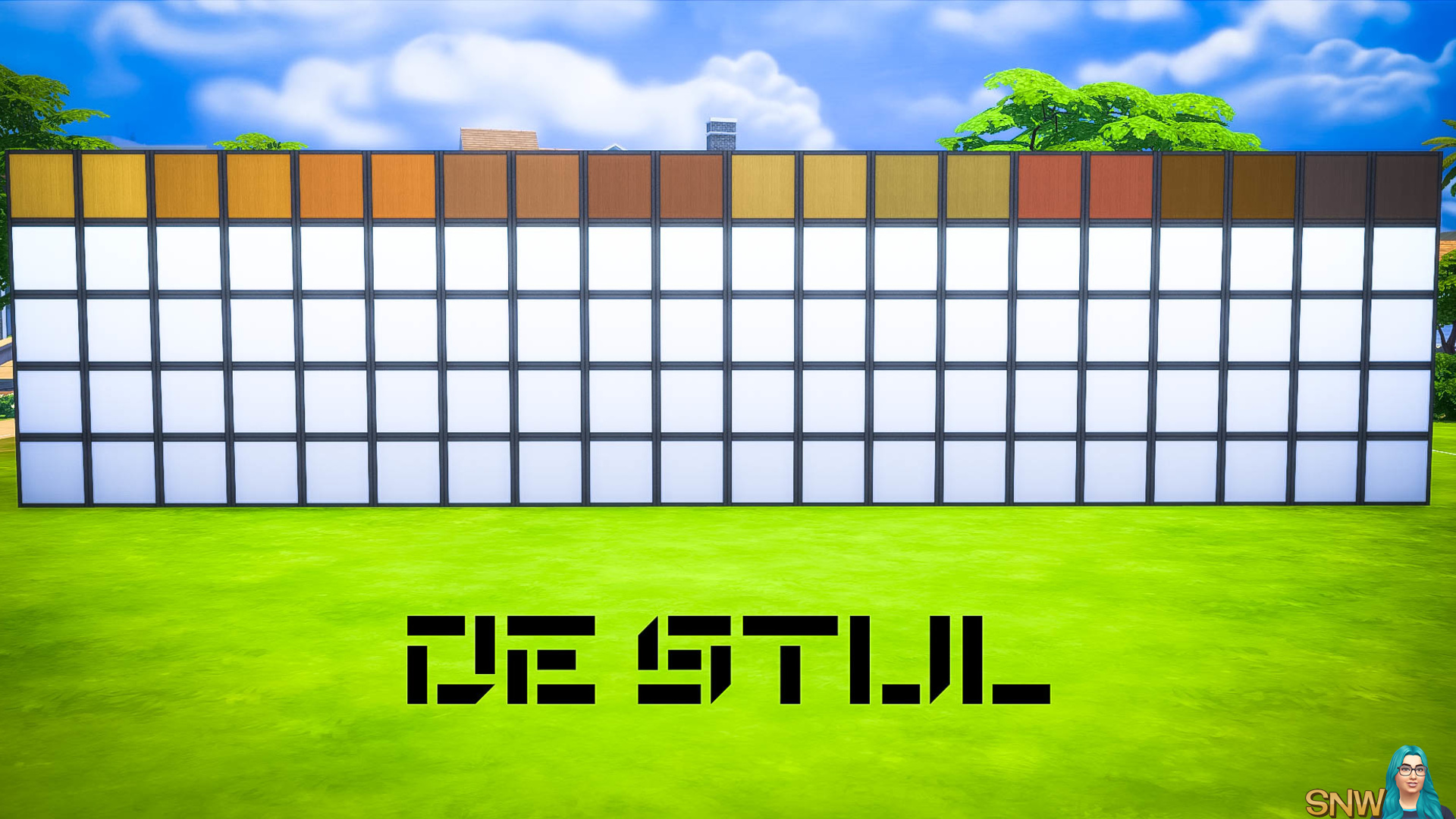 De Stijl Wooden Wall Panels Blocks (Top) #8