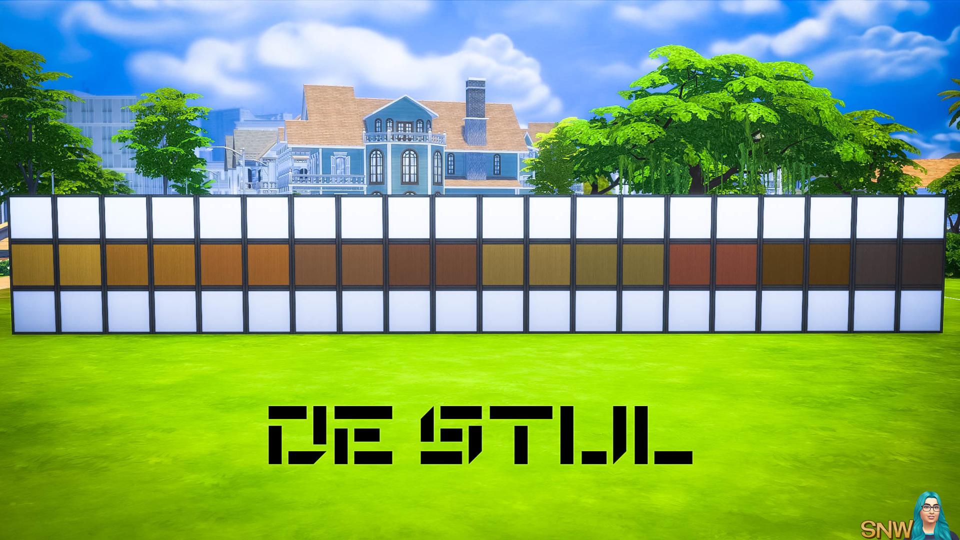 De Stijl Wooden Wall Panels Blocks (Middle) #11