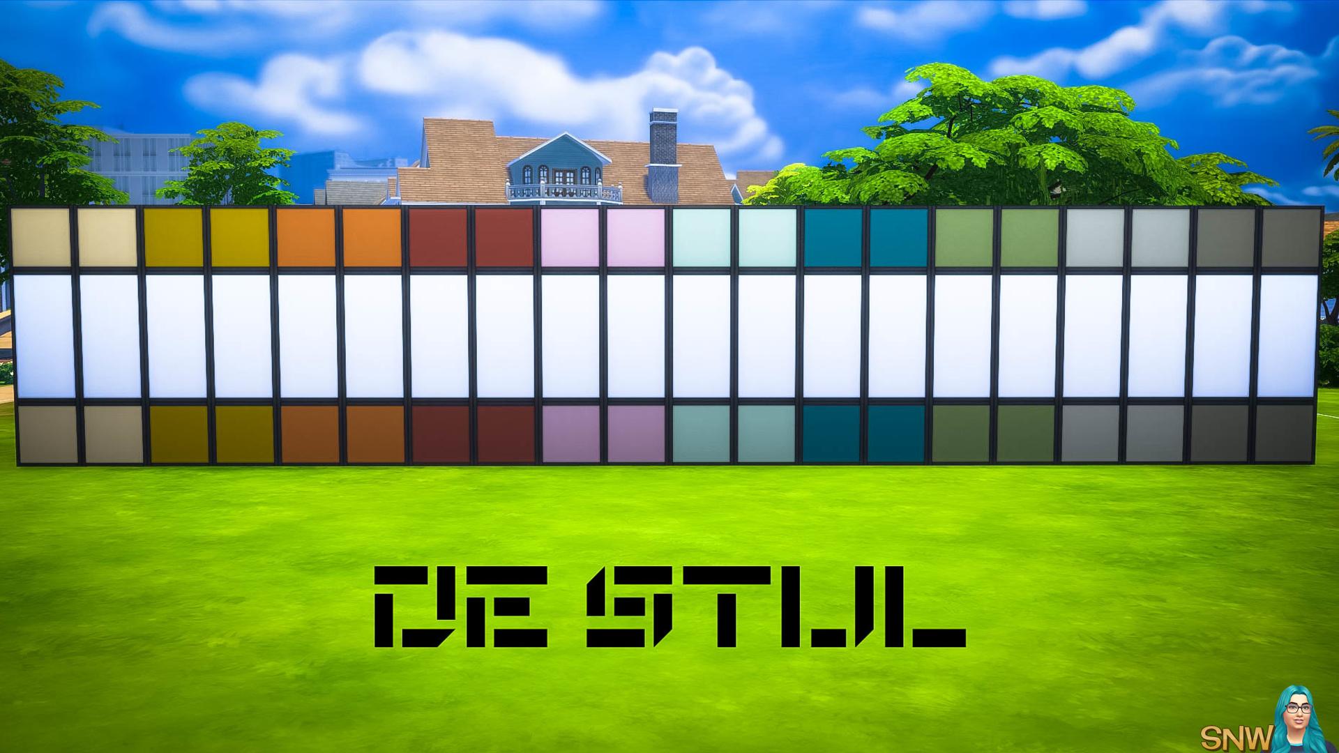 De Stijl MCM Wall Panels (Top and Bottom) #4