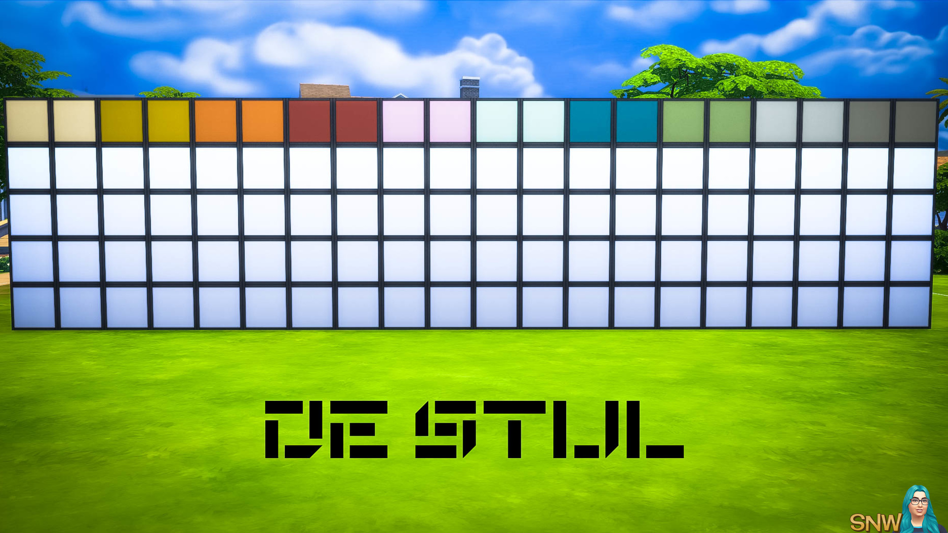 De Stijl MCM Wall Panels Blocks (Top) #8