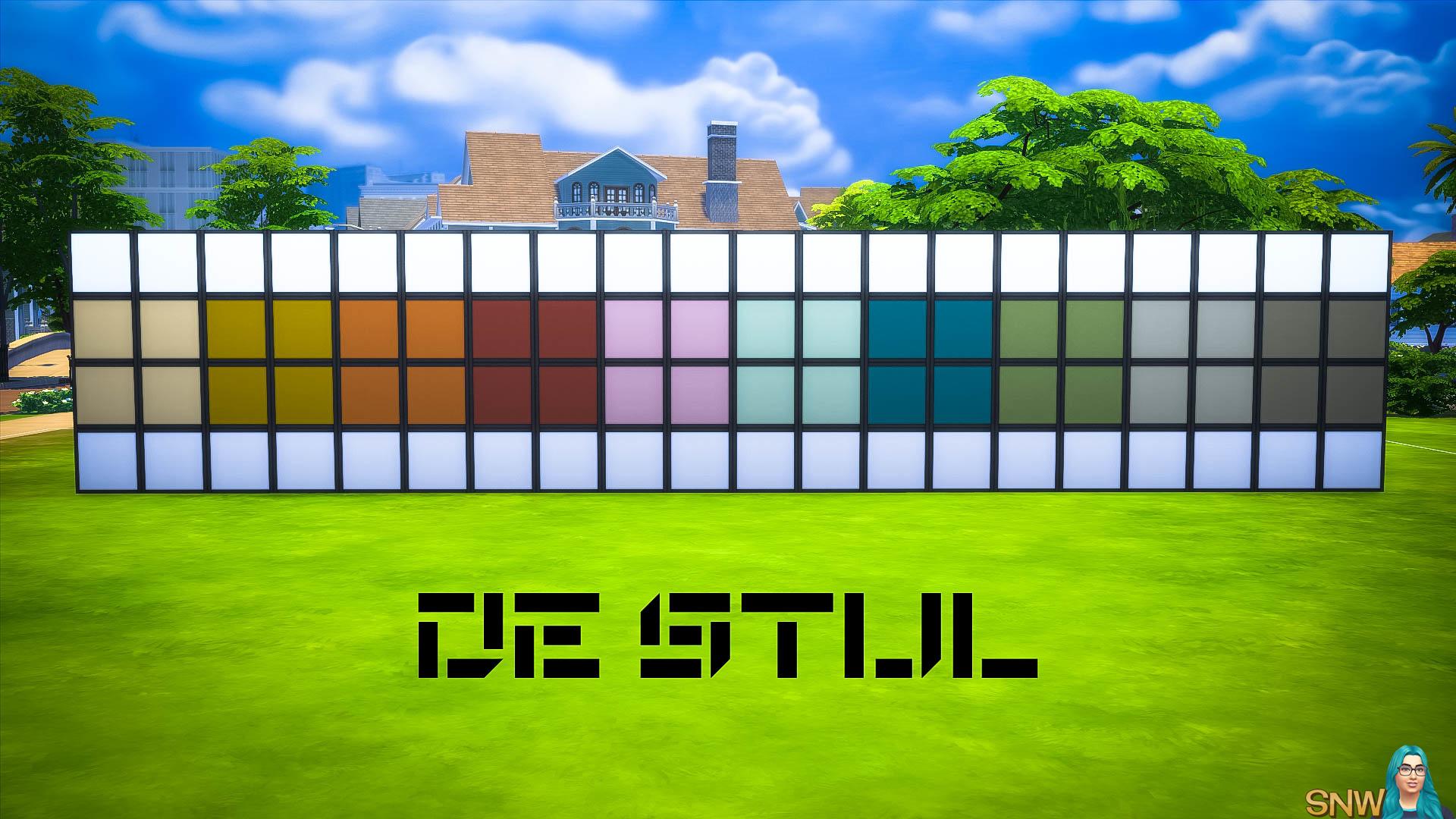 De Stijl MCM Wall Panels Blocks (Middle) #11
