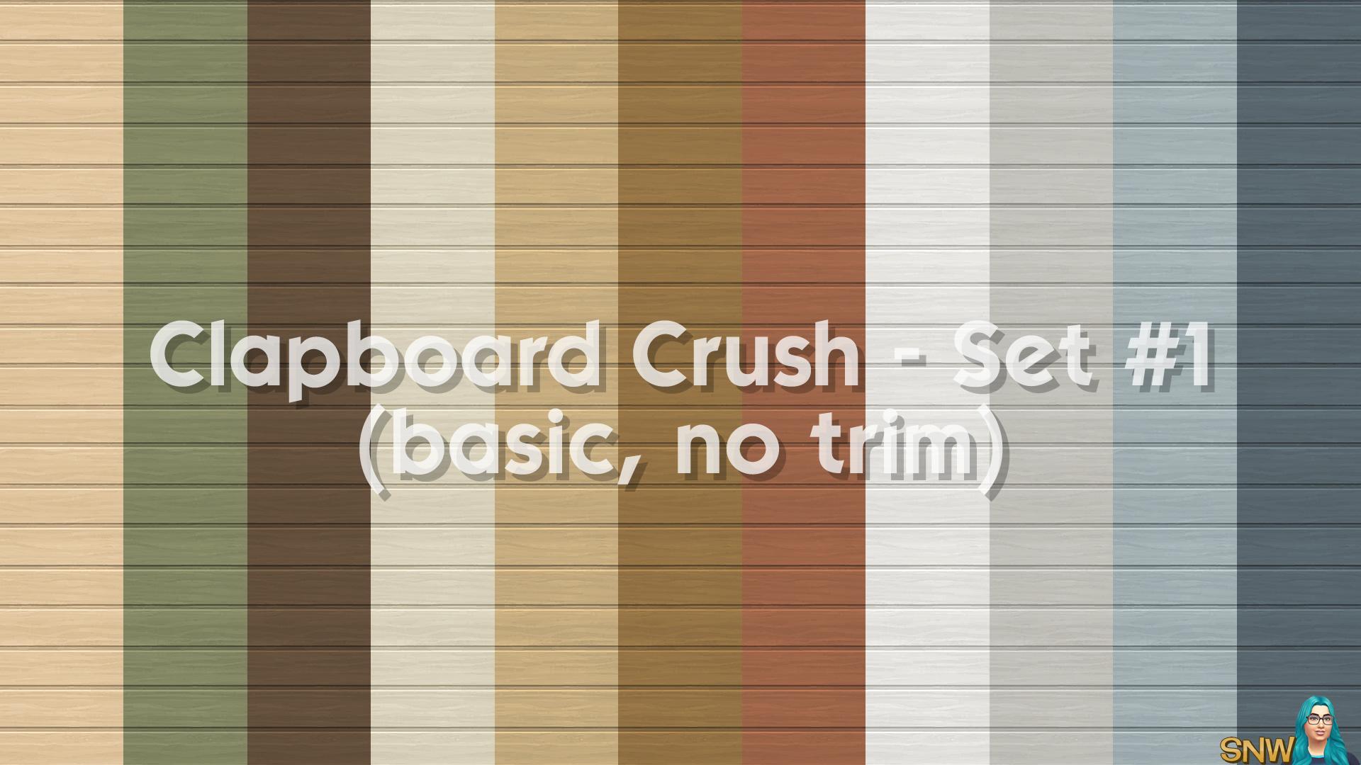 Clapboard Crush Siding Walls Set #1 Basic