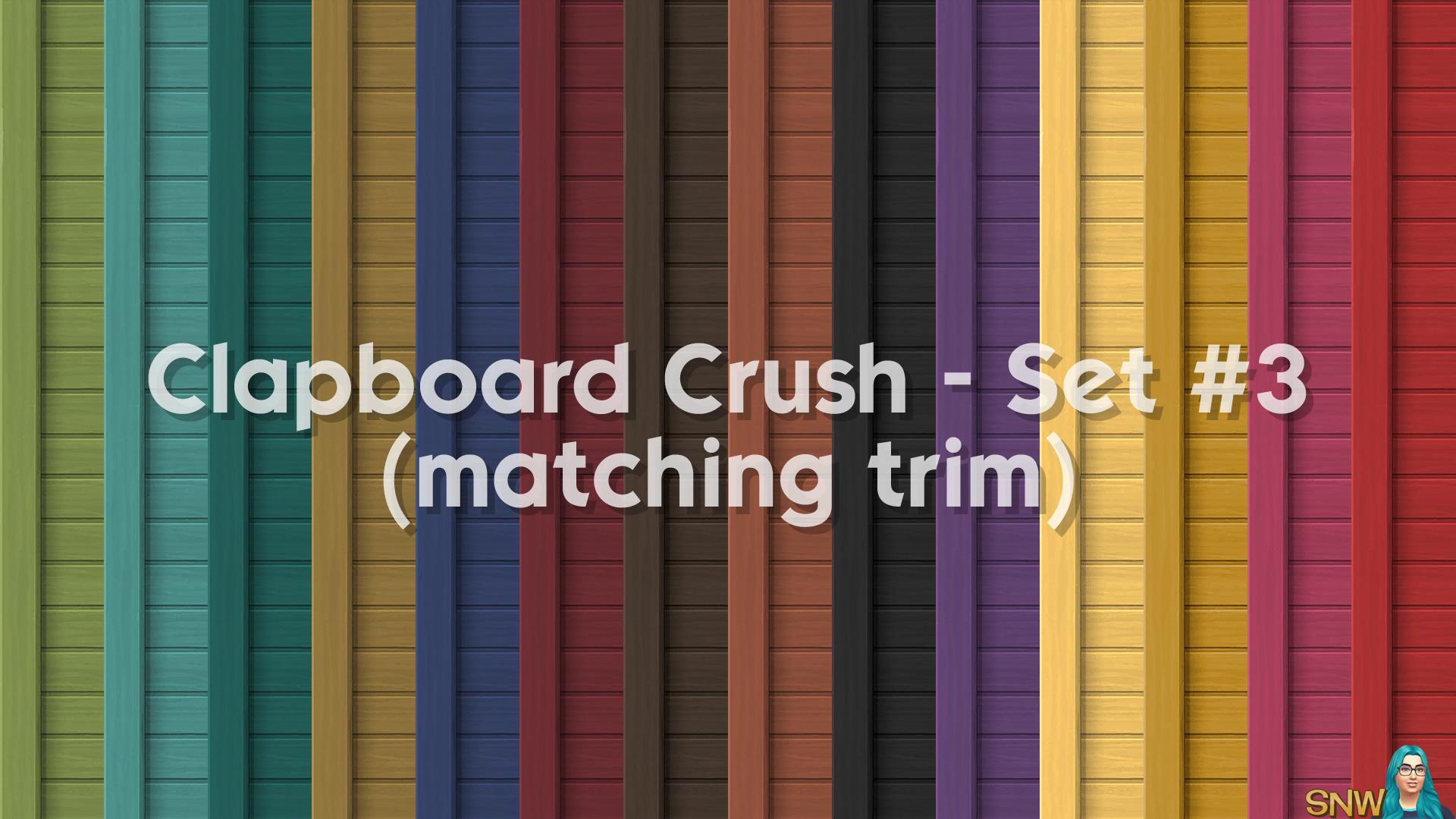 Clapboard Crush Siding Walls Set #3 (with Corner Trim)