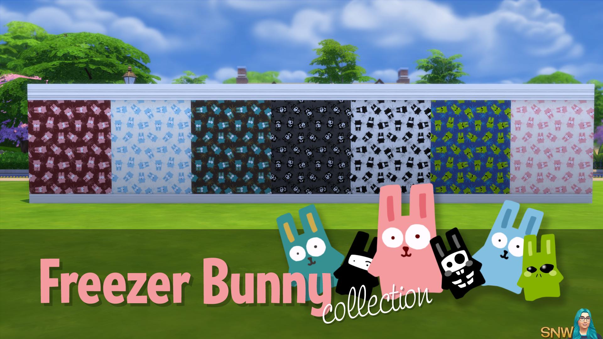 Freezer Bunny Collectie: Grote Bunnies/Starburst Behang