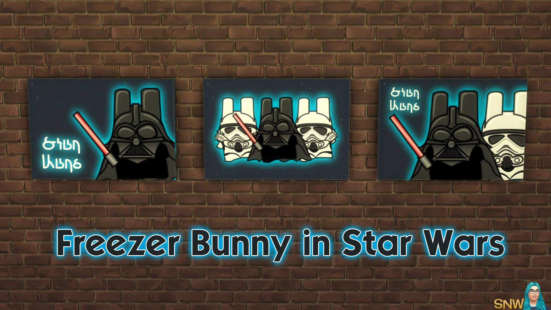 Freezer Bunny Star Wars paintings