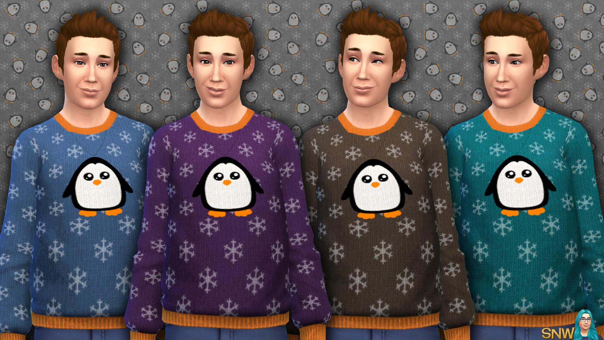 Men's Penguin Print Sweater