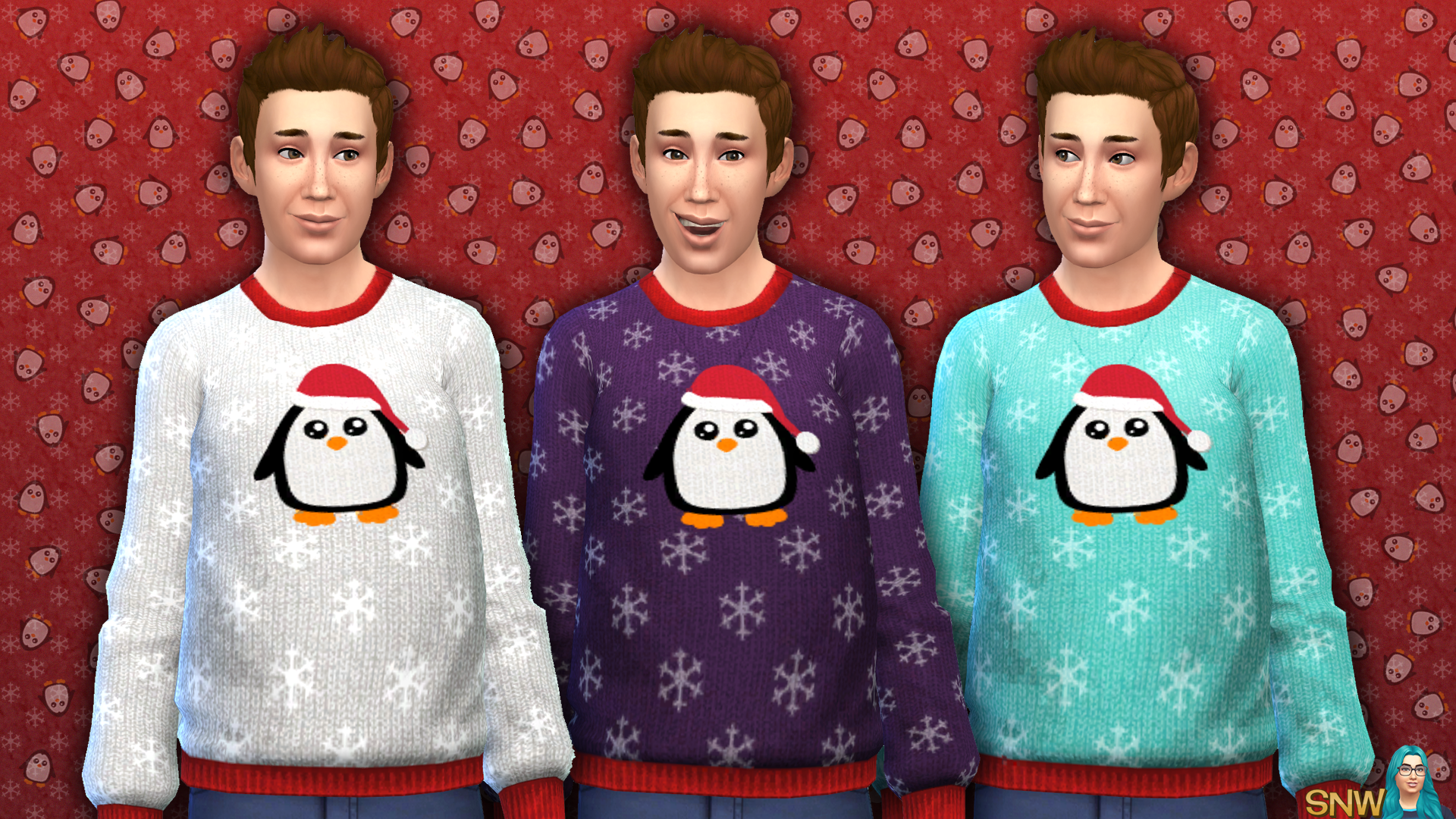 Men's Christmas Penguin Sweater