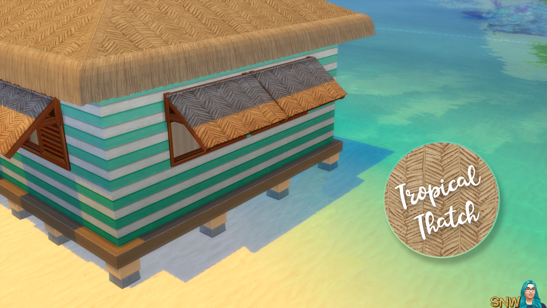 Tropical Thatch Awnings (matches Tropical Thatch roof from Island Living)
