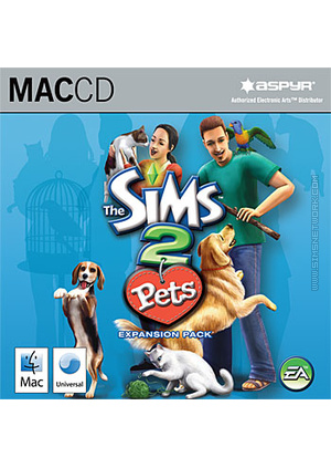 The Sims 2: Pets for Mac box art packshot jewel case
