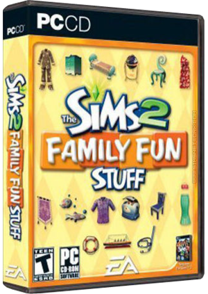 The Sims 2: Family Fun Stuff box art packshot US