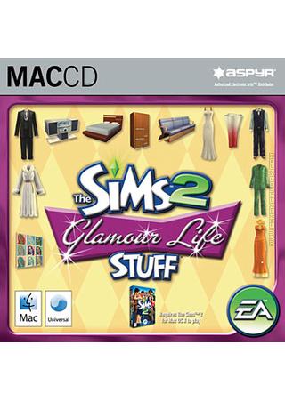 The Sims 2: Glamour Life Stuff for Mac box art packshot jewel case