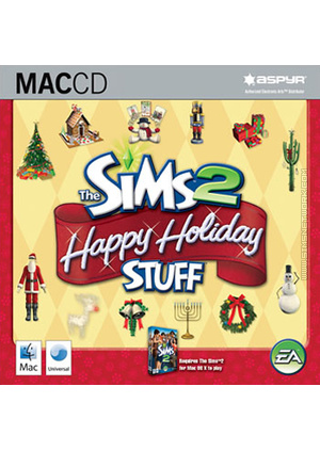 The Sims 3: Happy Holiday Stuff for Mac box art packshot jewel case
