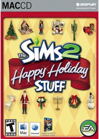 The Sims 2: Happy Holiday Stuff for Mac box art packshot US