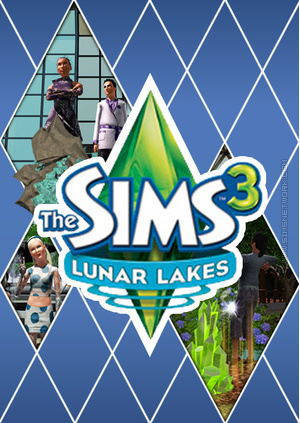 The Sims 3: Lunar Lakes custom box art packshot made by SNW