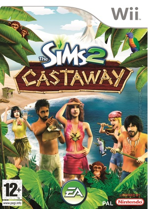 The Sims 2 Castaway on Wii Box Art Packshot