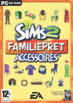 De Sims 2: Familiepret Accessoires box art packshot