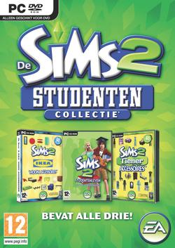 De Sims 2: Studenten Collectie box art packshot