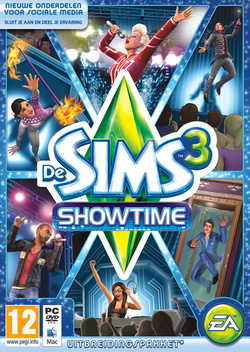 De Sims 3: Showtime box art packshot