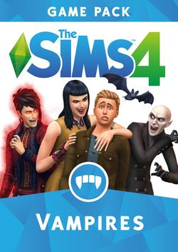 The Sims 4: Vampires game pack packshot box arts