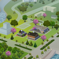The Sims 4: Magnolia Promenade world