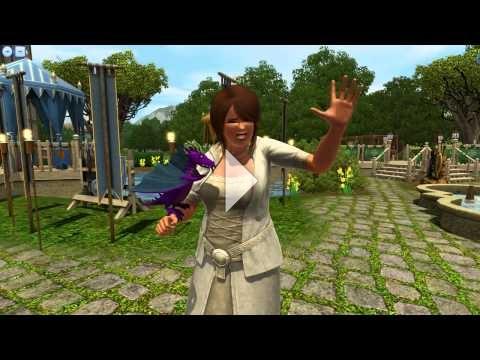 The Sims 3 Dragon Valley - Purple Dragon bite